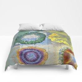 Recogitation Web Flowers  ID:16165-062317-11821 Comforters