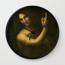 "Leonardo da Vinci ""St. John the Baptist"" Wall Clock"
