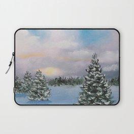 Sunset Winter Snow Laptop Sleeve
