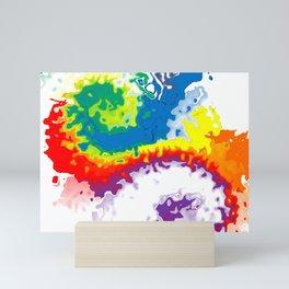 Rainbow Blot 02 Mini Art Print