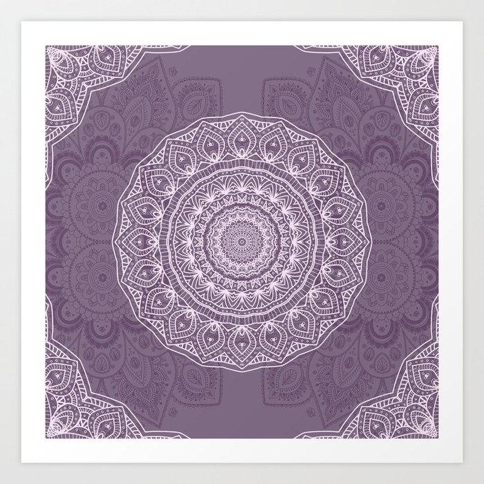 White Lace on Lavender Kunstdrucke