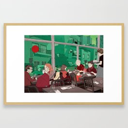 Bye Bye Red Balloon! Framed Art Print