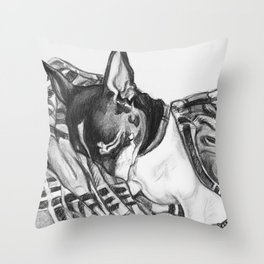 Plaid Snuggles Throw Pillow