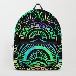 Neon Psychedelic Mandala Backpack