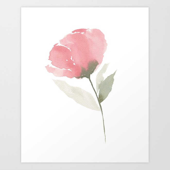 Single pink flower art print by kaylabullen society6 single pink flower art print mightylinksfo