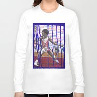 nba Long Sleeve T-shirts featuring NBA PLAYERS - Julius Erving by Ibbanez
