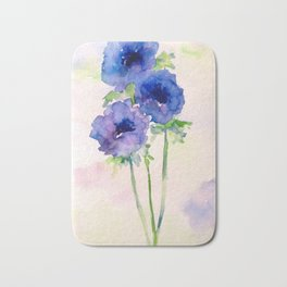 Vernal blue Bath Mat