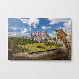 Three Peaks of Lavaredo - Sexten Dolomites Italy Metal Print