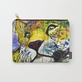 Daydreaming Leopard Carry-All Pouch