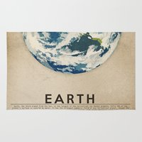 earth Area & Throw Rugs featuring Earth by Heather Landis
