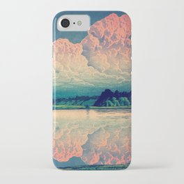 Admiring the Clouds in Kono iPhone Case