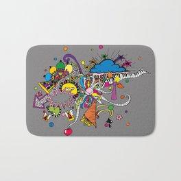 Colored Doodle Bath Mat