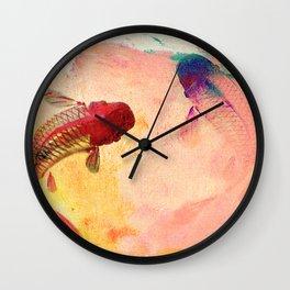 Canvas Koi Wall Clock