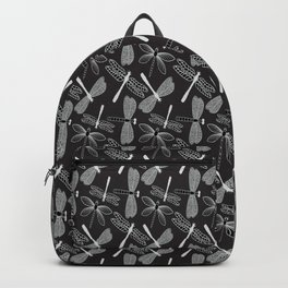 Dragonfly White and black Backpack
