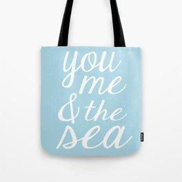 You Me & The Sea - Light Blue Tote Bag