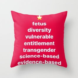Banned Words for the Holiday Season Throw Pillow