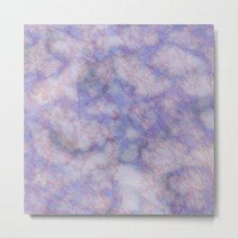 Modern lavender lilac rose gold marble Metal Print
