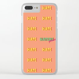 hate Clear iPhone Case