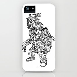 King Kong Black and White iPhone Case