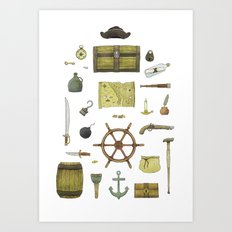Pirated Art Print