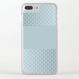 Blue mother of pearl Clear iPhone Case