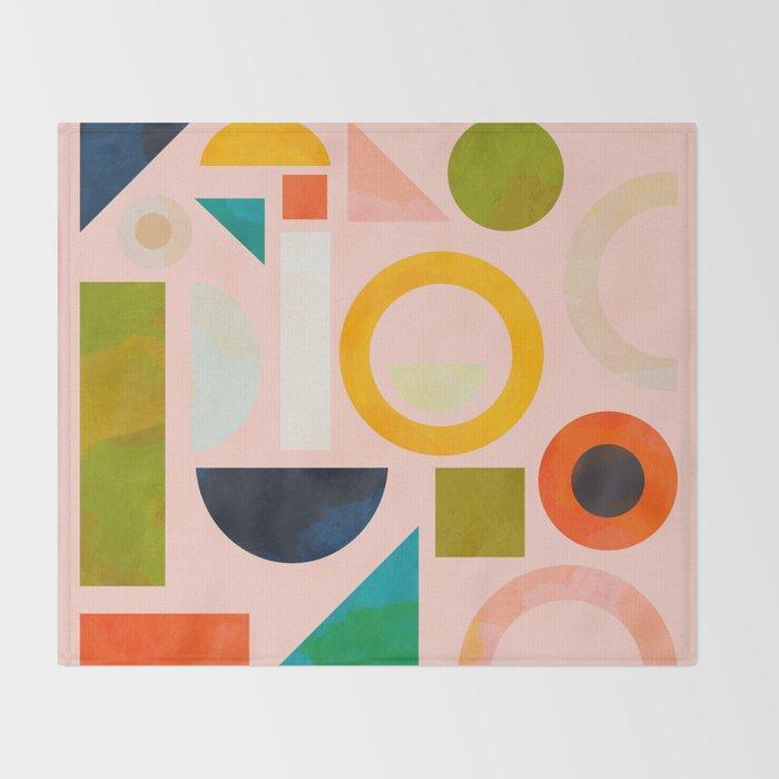 geometric play modern art Throw Blanket