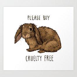 Cruelty free Color Art Print