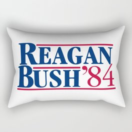 reagan bush 84 Rectangular Pillow