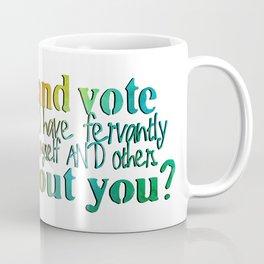 I Will Live and Vote Bright Rainbow Coffee Mug