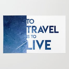 To Travel Is To Live Rug