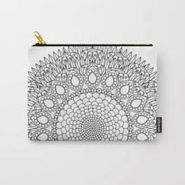 Bubbly Flower Mandala - Color Your Own  Carry-All Pouch