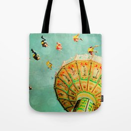 You Spin Me Right Round Carnival Swing Tote Bag