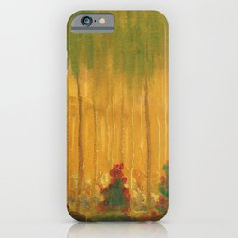 Summer, Alpine Red Roses and Birch landscape painting by Mikalojus Konstantinas Ciurlionis iPhone Case