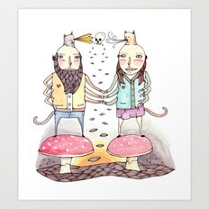Monsters in Love Art Print