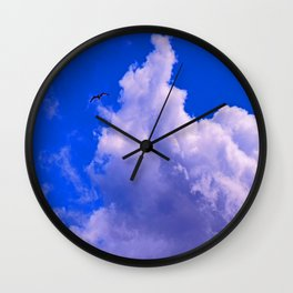 """""""Clouds #73"""" Photo with poem: Love Is #4 Wall Clock"""