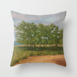 Stand of Trees at Sleeping Bear Dunes Throw Pillow