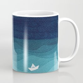 Garlands of stars, watercolor teal ocean Coffee Mug