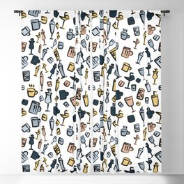 Beer Wine Cup Glass Sets Pattern Blackout Curtain