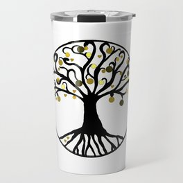 """Yggdrasil"",Golden,Tree of Life,HOME DECOR,Duvet Covers,Comforters,Bed spreads,Blankets,Backpack Travel Mug"