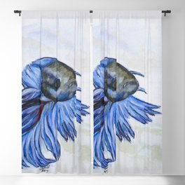 Ben Blue Betta Fish Blackout Curtain