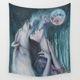 Moon Howl Wall Tapestry