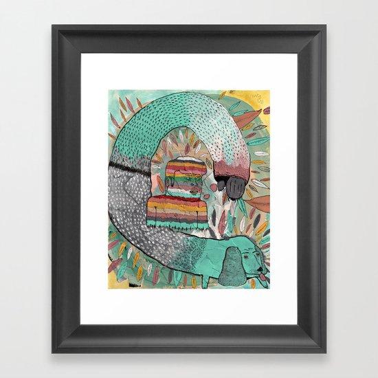 Las Garrapatas de Bruno Framed Art Print