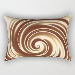 Chocolate milk cocktail spiral Rectangular Pillow