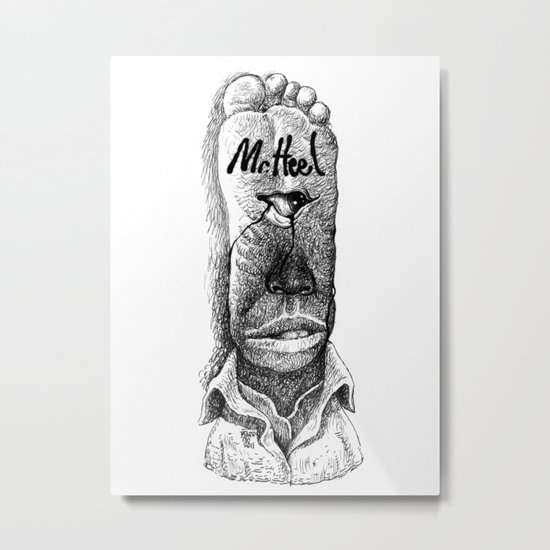 Mr. Heel Metal Print