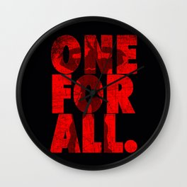 one for all Wall Clock