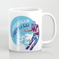 nfl Mugs featuring American Football by Studio|19