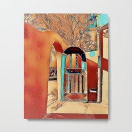 Taos Gate Metal Print