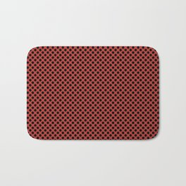 Aurora Red and Black Polka Dots Bath Mat