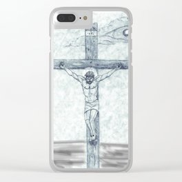 I preach Christ & Christ Crucified Clear iPhone Case