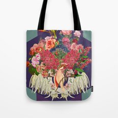 Floral and Parrot Tote Bag